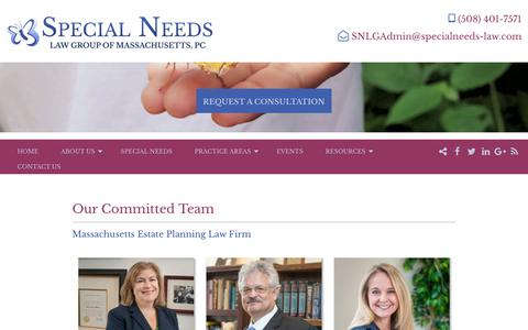 Screenshot of About Page specialneeds-law.com - Estate & Special Needs Attorneys | Ready to Help You and Your Family - captured Oct. 18, 2018
