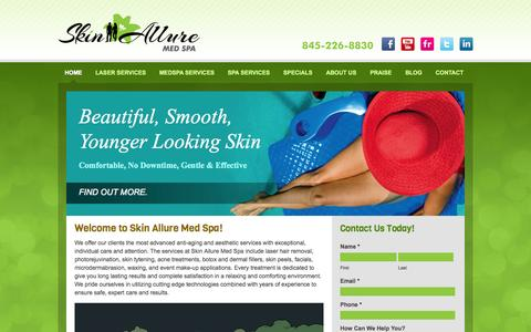Screenshot of Home Page skinalluremedspa.com - Skin Allure Med Spa - From Hair Removal To Acne Treatment In NY - captured Sept. 30, 2014