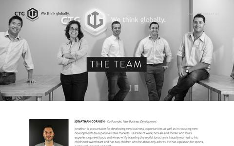 Screenshot of Team Page ctg.us - The Team — CTG - captured Feb. 15, 2019