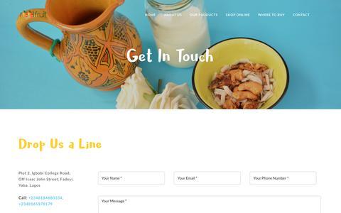 Screenshot of Contact Page reelfruit.com - Contact | Reelfruit - captured Sept. 20, 2018