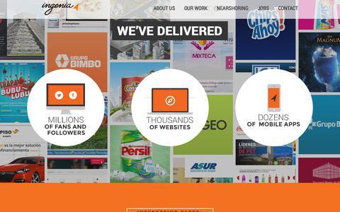 Screenshot of Home Page ingenia.com - Ingenia Agency - Welcome - captured Dec. 12, 2018