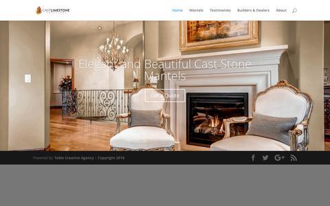 Screenshot of Home Page castlimestonecreations.com - Cast Limestone Creations | Colorado's Custom Mantel Leader - captured May 15, 2017