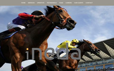 Screenshot of Home Page i-neda.com - i-neda a world leader in the provision of technology to the betting industry. - captured Sept. 30, 2018