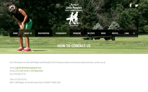Screenshot of Maps & Directions Page littlepeoplesgolf.com - How To Contact Us | Little People's Golf Tournament - captured June 8, 2018