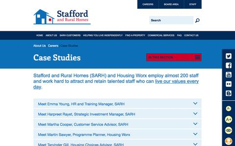 Screenshot of Case Studies Page sarh.co.uk - Case Studies | Stafford and Rural Homes - captured Feb. 16, 2016