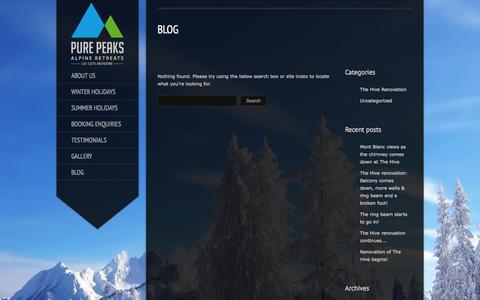 Screenshot of Blog purepeaks.com - Pure Peaks |   Blog - captured Sept. 30, 2014