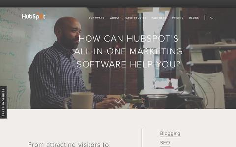 Screenshot of Products Page hubspot.com - HubSpot Product Overview - captured June 16, 2015