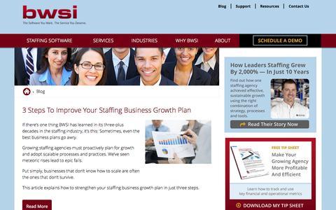 Screenshot of Blog bwsi.com - Staffing Industry Insider Tips, Insights And Information - captured Nov. 14, 2015