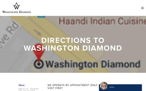 Screenshot of Maps & Directions Page washingtondiamond.com - Directions — Washington Diamond - captured June 11, 2017