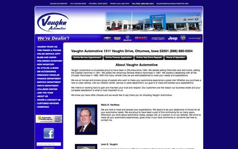 Screenshot of About Page vaughnautomotive.com - About Us - captured Oct. 27, 2014