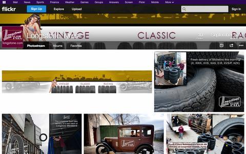 Screenshot of Flickr Page flickr.com - Flickr: Longstone Tyres' Photostream - captured Oct. 23, 2014