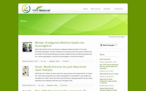 Screenshot of Blog Press Page sepranatural.com - News   100% Natural Products   Sepra Natural - captured Oct. 26, 2014