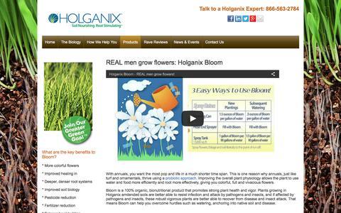 Screenshot of holganix.com - Bloom - captured March 19, 2016
