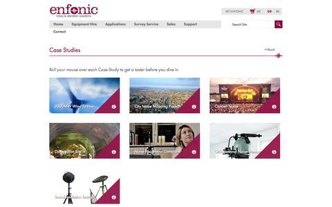 Screenshot of Case Studies Page enfonic.com - Enfonic - captured Nov. 2, 2014