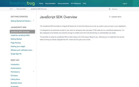 JavaScript SDK Overview