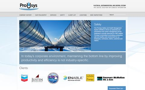 Screenshot of Home Page prousys.com - ProUsys   Instrumentation and Control Systems   HMI Development - Networking - Custom Panels - PLC Programming - captured Nov. 14, 2016