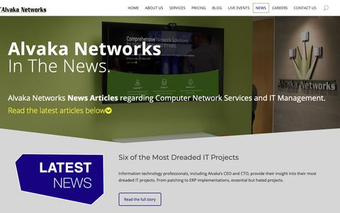 Screenshot of Press Page alvaka.net - Alvaka Networks News Articles | Computer Network Services and IT Management News - captured Oct. 3, 2018
