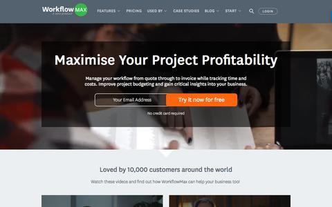 Online Workflow & Job Management Software | WorkflowMax