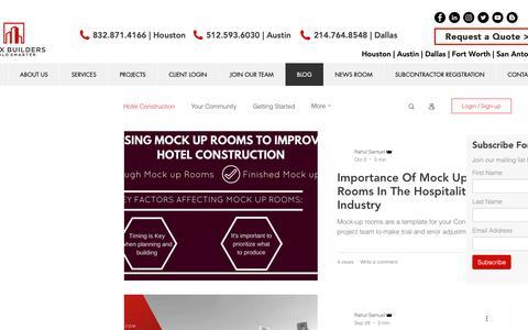 Screenshot of Blog maxxbuilders.com - Blog | Commercial Contractors | Maxx Builders - captured Oct. 17, 2018