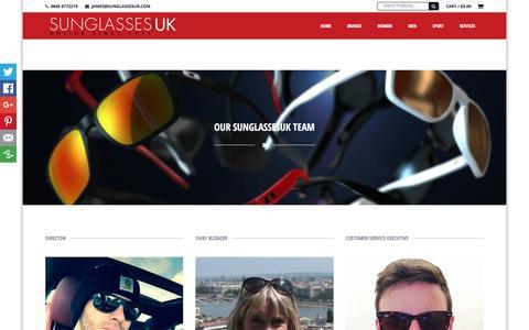 Screenshot of Team Page sunglassesuk.com - Our Team & History - Sunglasses UKSunglasses UK - captured Feb. 16, 2016