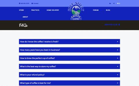 Screenshot of FAQ Page bluestilly.com - FAQs - captured Oct. 10, 2017