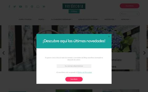 Screenshot of Blog verdecora.es - Homepage - Blog Verdecora - captured Sept. 19, 2018