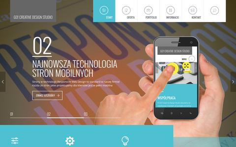 Screenshot of Home Page gcds.pl - GO! Creative Design Studio - kreatywne rozwiązania internetowe - captured Jan. 19, 2016