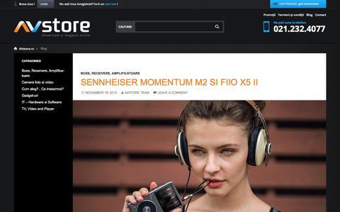 Screenshot of Blog avstore.ro - Noutati despre echipamente audio video profesionale, review-uri, tutoriale si sfaturi -  Blog AVstore.ro - captured Feb. 12, 2016