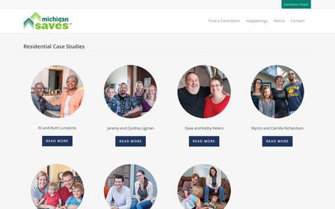 Screenshot of Case Studies Page michigansaves.org - Case Studies – Michigan Saves - captured Jan. 18, 2018