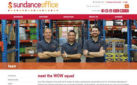 Screenshot of Team Page sundanceoffice.com - dedicated account representatives - captured Dec. 3, 2016