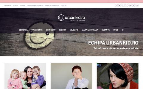 Screenshot of Team Page urbankid.ro - Echipa | UrbanKid.ro - captured Sept. 23, 2014