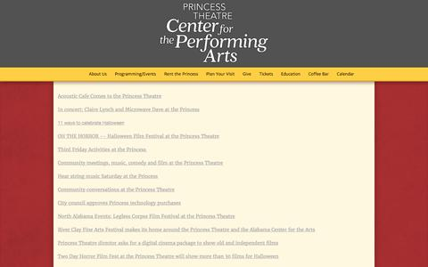 Screenshot of Press Page princesstheatre.org - News - Princess Theatre: Center For The Performing Arts - captured Aug. 31, 2017