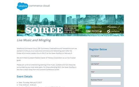 Screenshot of Landing Page demandware.com - Commerce Cloud - captured Feb. 25, 2017