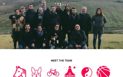Screenshot of Team Page thedoers.co - team — The Doers - captured Feb. 15, 2018