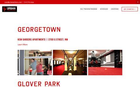 Screenshot of Locations Page urbanathletic.club - Locations — Urban Athletic Club - captured Oct. 22, 2017