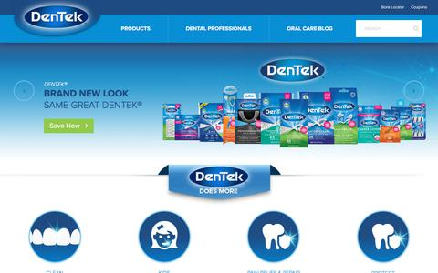 Screenshot of Home Page dentek.com - DenTek™ Oral Care - Night Mouth Guards - Pain Relief - Cleaners | DenTek™ Oral Care - Night Mouth Guards - Pain Relief - Cleaners - captured Oct. 30, 2019