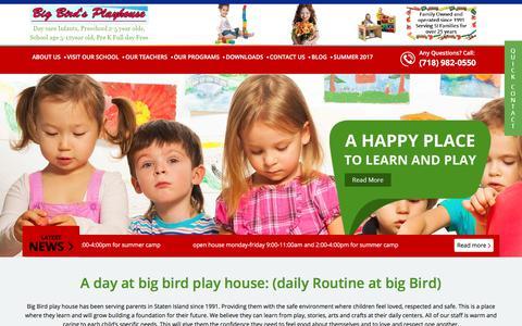 Screenshot of Home Page bigbirdsplayhouse.com - BigBirdsPlayHouse - captured Oct. 10, 2017