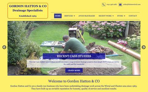 Screenshot of Home Page drainswirral.com - Gordon Hatton & Co | Blocked Drains Wirral | Drainage Wirral - captured Nov. 12, 2016