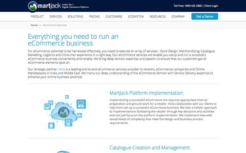 Screenshot of Services Page martjack.com - MartJack eCommerce Services - MartJack-The Digital commerce Platform - captured Sept. 17, 2014