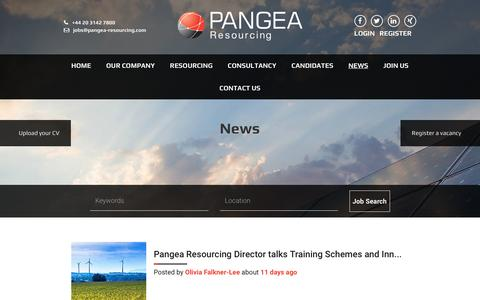 Screenshot of Press Page pangea-resourcing.com - Energy Recruitment - Blog - Pangea Resourcing - captured May 13, 2017