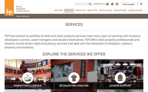 Screenshot of Services Page fspretail.com - FSP: results driven retail property consultancy | UK & Europe - captured Nov. 24, 2016