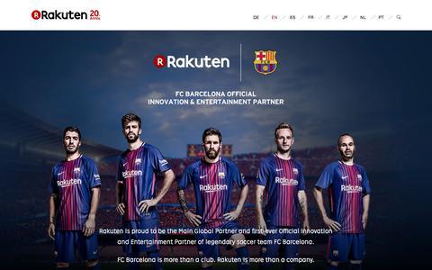 Rakuten × FC Barcelona Special Webpage