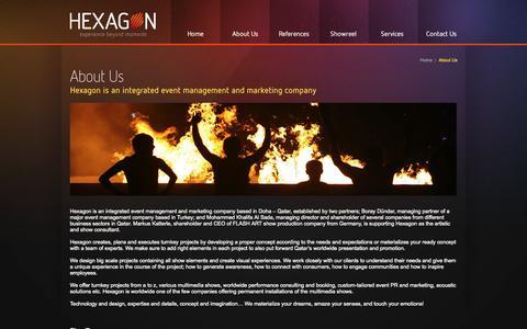 Screenshot of About Page hexagonqatar.com - HEXAGON - captured Oct. 2, 2014