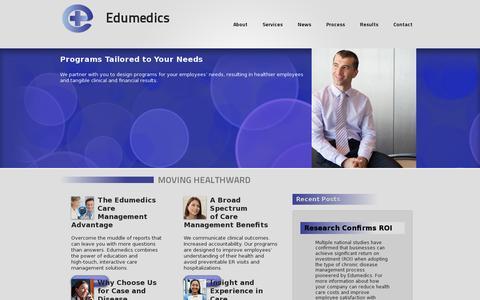 Screenshot of Home Page edumedics.com - Edumedics - captured July 17, 2014