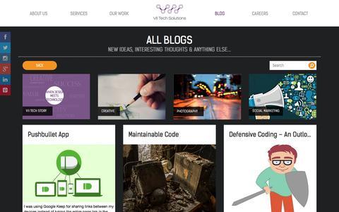 Screenshot of Blog viitech.net - Blog | VII Tech | Creative Design Studio | Web Development | Bahrain - captured Oct. 26, 2014