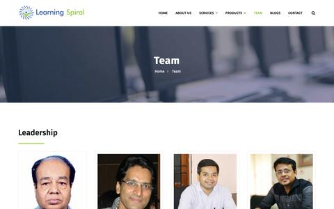 Screenshot of Team Page learningspiral.co.in - Team | Learning Spiral - captured Nov. 10, 2018