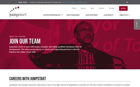 Screenshot of Jobs Page jumpstartinc.org - Careers - JumpStart - captured June 3, 2019