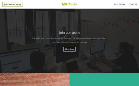Screenshot of Jobs Page wunder.org - Jobs - captured Nov. 30, 2016