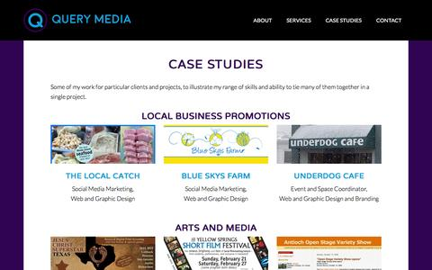 Screenshot of Case Studies Page querymedia.com - Case Studies - captured Jan. 24, 2016