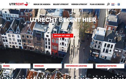 Screenshot of Home Page bezoek-utrecht.nl - Home | Bezoek Utrecht - captured Feb. 2, 2016